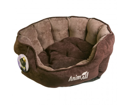 Лежанка AnimAll Royal Velours M CHOCOLATE, 53×47×21